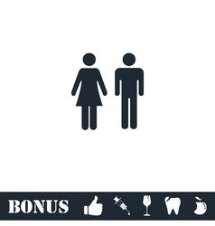 Man and Woman icon flat vector image