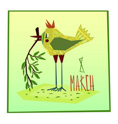 March eight greeting card vector