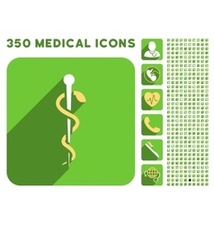 Medical Needle Icon and Medical Longshadow Icon vector image