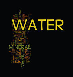 Mineral water text background word cloud concept vector