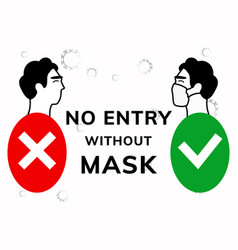 No entry without face mask vector