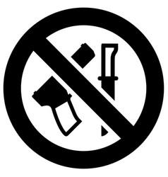 No weapon forbidden sign modern round sticker vector