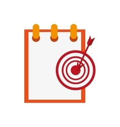 Notepad and bullseye icon vector