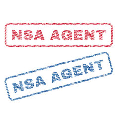 Nsa agent textile stamps vector