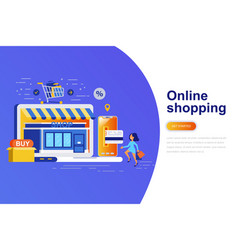 online shopping modern flat concept vector image
