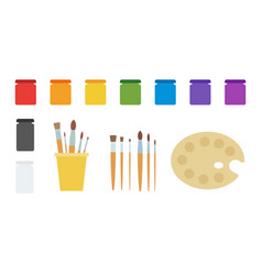 paint and tool drawing kit icon flat isolated vector image