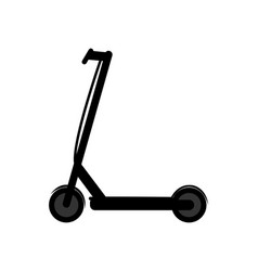 Pictogram e-scooter on white background vector