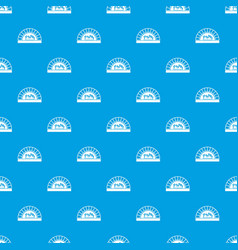Pizza oven with fire pattern seamless blue vector
