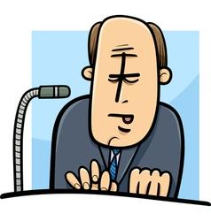 Politician giving speech cartoon vector