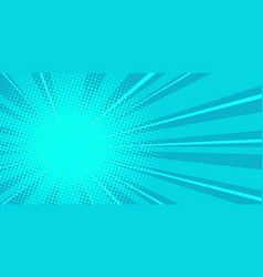 pop art blue background vector image