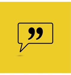 Quote sign icon vector image