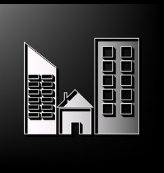 real estate sign gray 3d printed icon on vector image