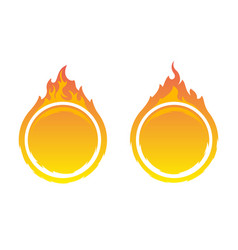 round fire frames vector image