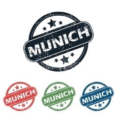 Round Munich city stamp set vector