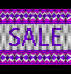 sale imitation knitting fabric multicolor vector image
