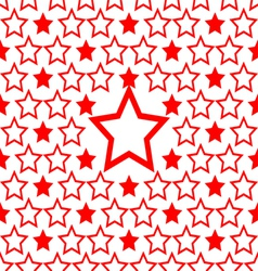 seamless red star pattern design background vector image