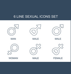 Sexual icons vector