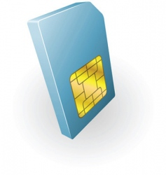 Sim card illustration vector