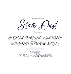 star dust handdrawn font vector image vector image