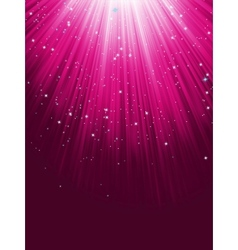 Stars are falling on purple luminous rays EPS 8 vector image