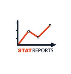 Stat reports chart concept symbol vector