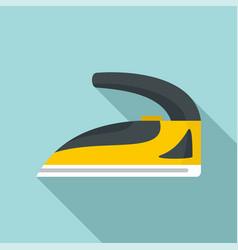 steel iron icon flat style vector image