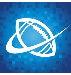 Swoosh American Football Icon vector image