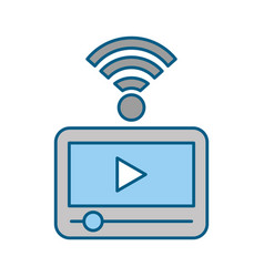 tablet internet connection vector image