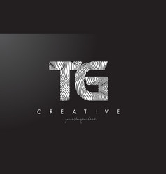 Tg t g letter logo with zebra lines texture vector