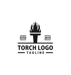 Torch logo design inspiration vector