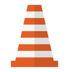 traffic cone construction equipment road vector image