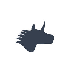 unicorn logo on white vector image