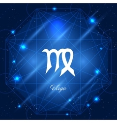 Virgo sign of the zodiac vector image
