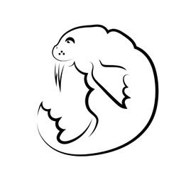 Walrus symbol vector