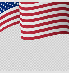 waving flag united states america wavy vector image