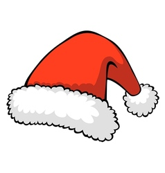 red santas hat vector image