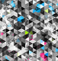 abstract grunge triangle seamless vector image vector image