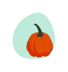 cartoon pumpkin isolated vector image vector image