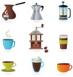 coffee design elements vector image vector image
