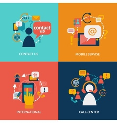 Contact us flat vector image vector image