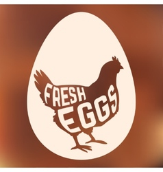 Egg with concept chicken silhouette inside on vector