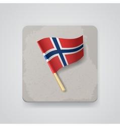 Norway flag icon vector image