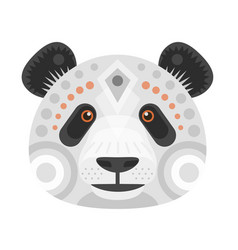 panda head logo decorative emblem vector image