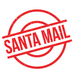 Santa mail rubber stamp vector