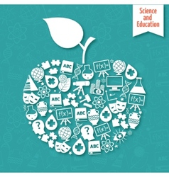 Science areas apple vector