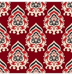 Seamless damask pattern for fabric vector image