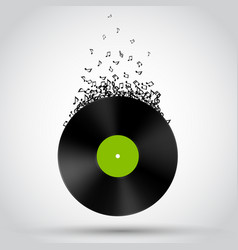 abstract music background vinyl disk vector image vector image