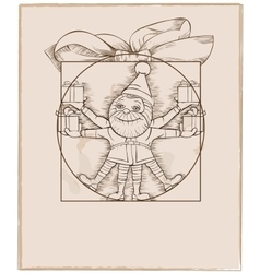 Elf carrying christmas presents cartoon vector image vector image