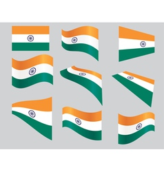 indiaflag2 vector image vector image