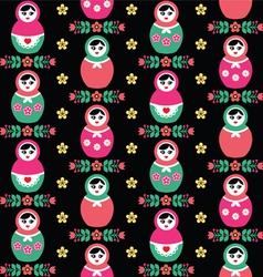 Russian doll Matryoshka folk seamless pattern vector image vector image
